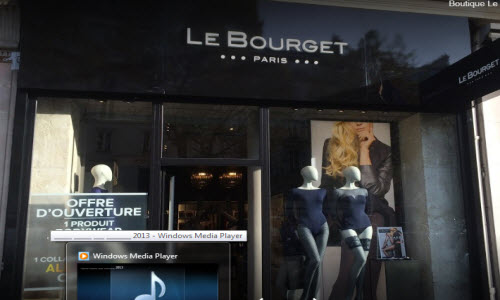 Le Bourget Paris Lingerie Boutique outside View