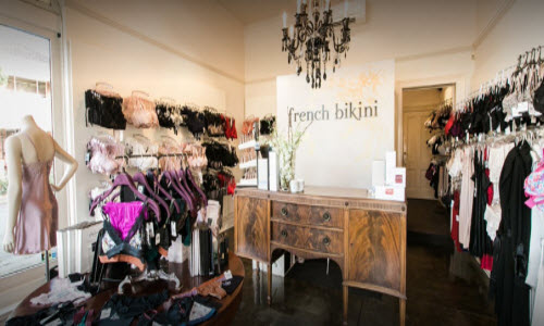 French Bikini Lingerie Boutique Inside View