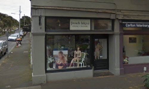 French Bikini Lingerie Boutique outside View