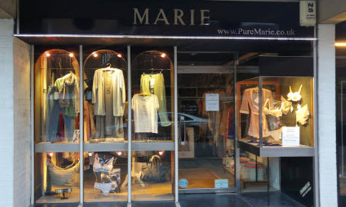 Marie Lingerie Boutique Store outside View
