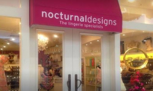 Nocturnal Designs Lingerie Boutique outside View