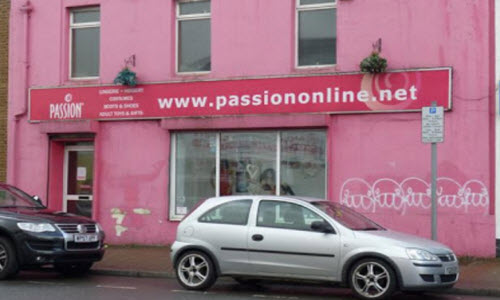Passion Lingerie boutique store outside view