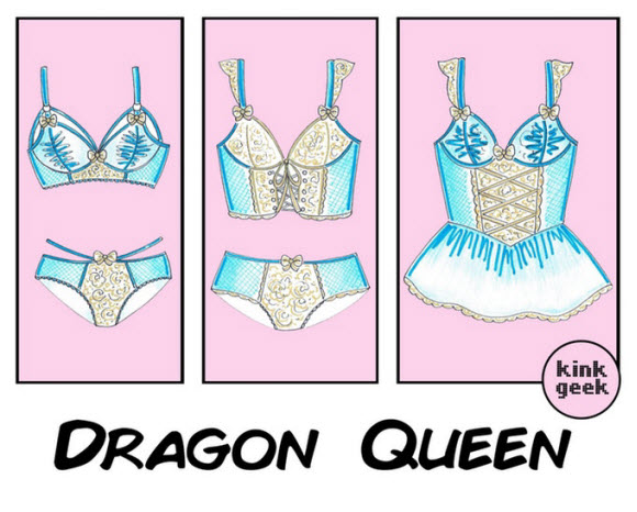 Kink Geek Release Her Handmade Fantasy Lingerie's Collection