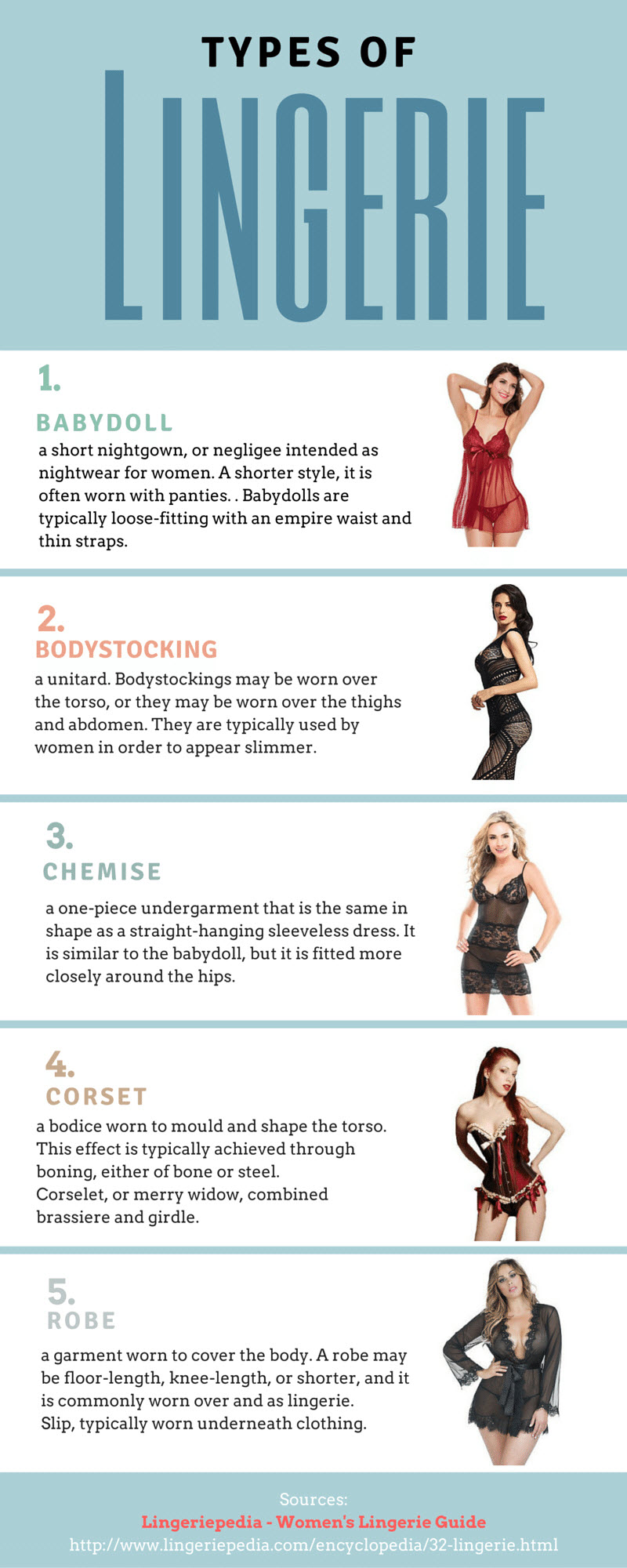 Types Of Lingeries