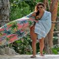 Alessandra Ambrosio Displays Her Taut Tummy While On A Mexican Beach
