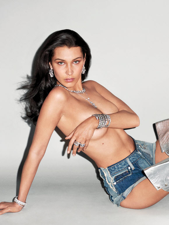 Bella Hadid Poses Topless For Racy Jewellery Shoot For V Magazine