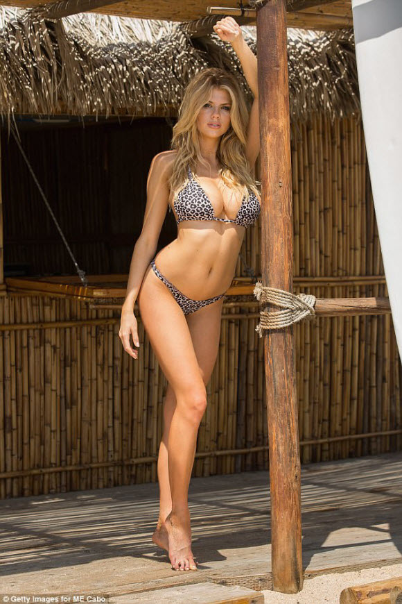 Charlotte McKinney Displays Her Busty And Sexy Body Figures In Tiny Leopard Print Bikini At Ibiza Beach