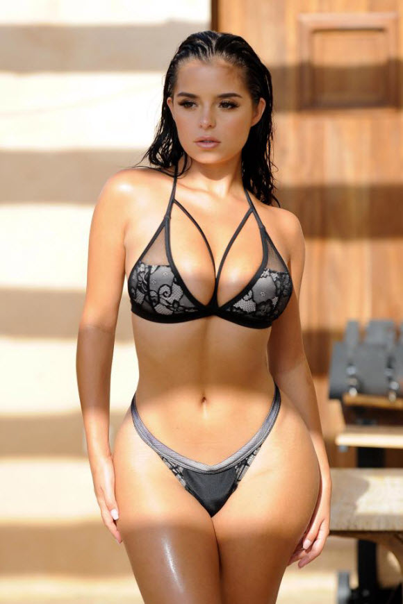 Demi Rose In Stunning Sensational Look In The Racy Bikini At Ibiza Beach