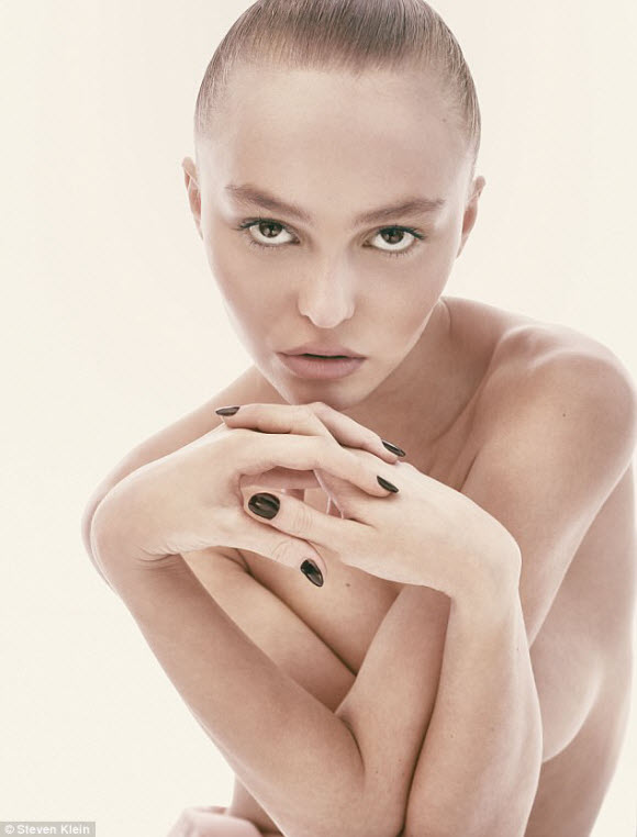 Lily Rose Depp Exposes Completely Topless  For CR Magazine