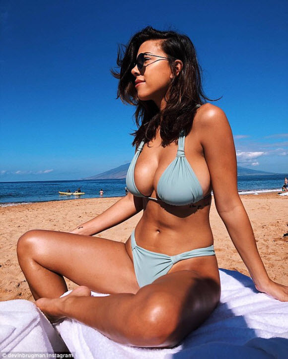 Devin Brugman Flaunts Unbelievable Curves In Skimpy Bikini At Hawaii Beach
