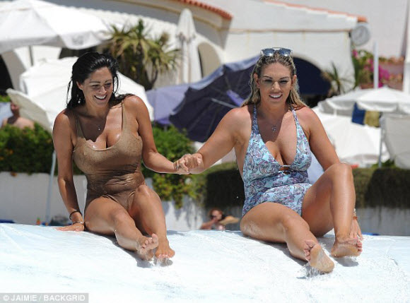 Frankie Essex And Casey Batchelor Showing Off Amazing Figure In Sexy Bikini At Spain