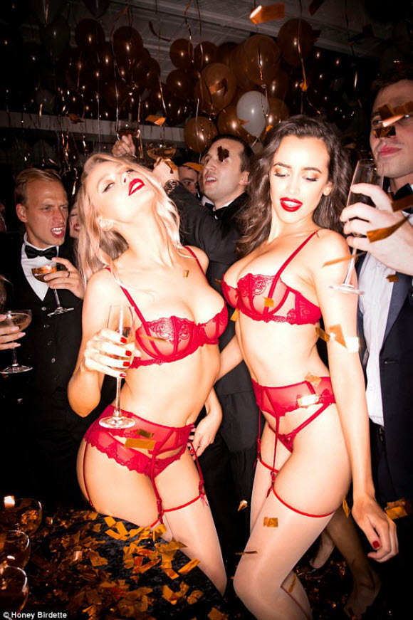 Honey Birdette launch Their Risqué New Campaign With A Wild Office Bash
