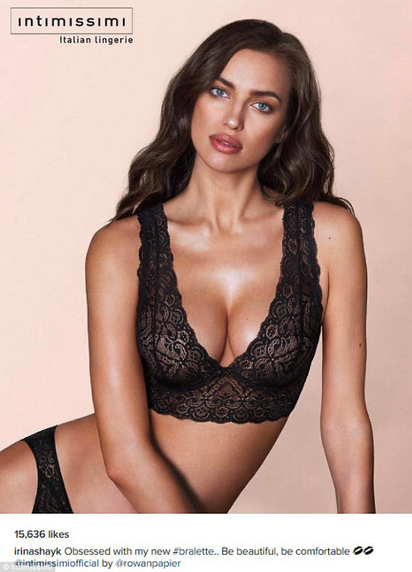 Irina Shayk In Stunning and Sexy Look With Sheer And Lace Bralette