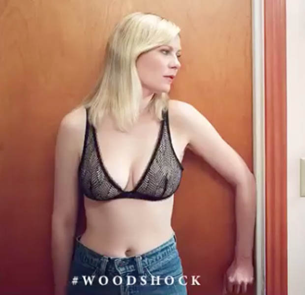 Kirsten Dunst Show Off Her Sexy Cleavage In Tiny Lace Bra