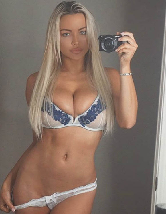 Lindsey Pelas Gave Fans A Glimpse Of Her Undercarriage As She Pulled Down Her Knickers