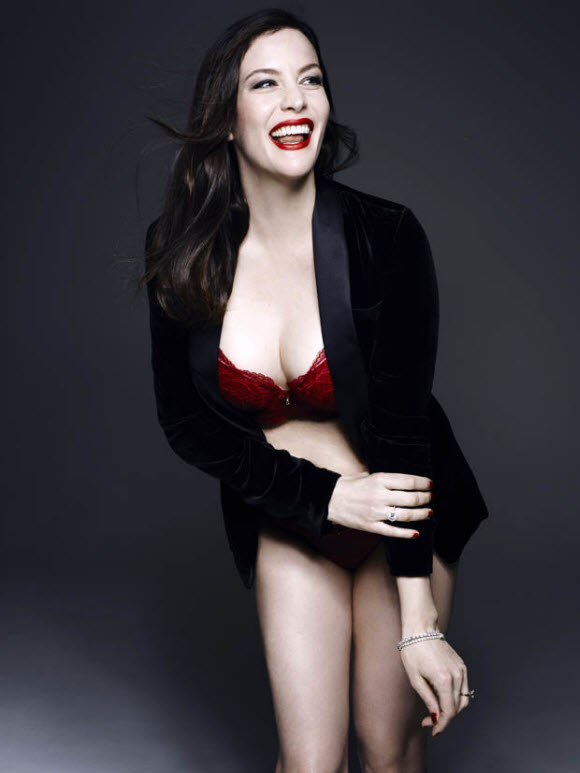 Liv Tyler Flaunts Her Phenomenal Figure In Sexy Sheer Bodystocking