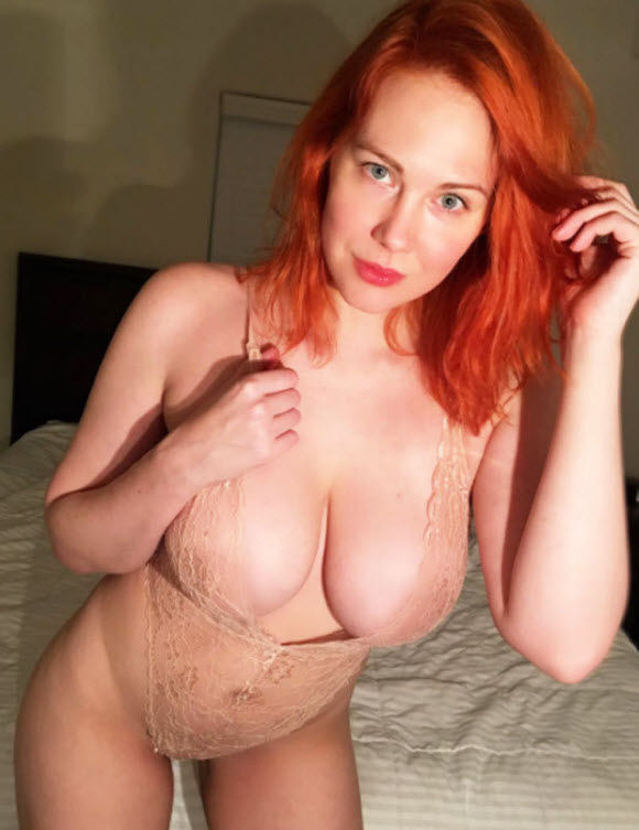Maitland Ward Show Off Nipple-Baring In Sexy Boob Spilling Swimsuit