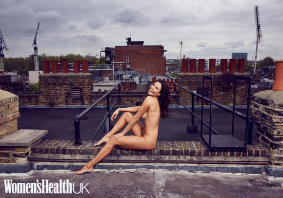 Melanie Sykes Poses Completely Nude For Women Health Magazine
