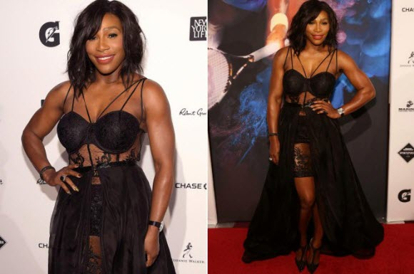 Stunning Serena: Williams wears lingerie-inspired gown
