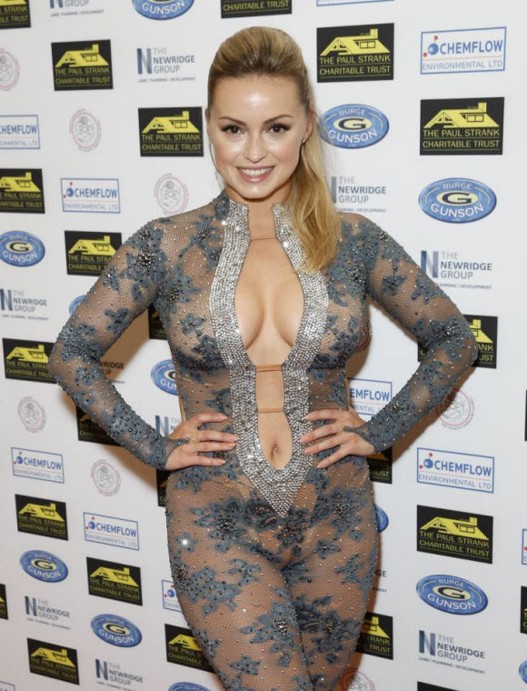 Ola Jordan In Stunning And Sexy Look Poses Everything In Sheer Boob-Baring Jumpsuit