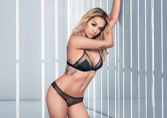 Rita Ora Dares To Bare All In The Sizzling Sheer Lingerie Display