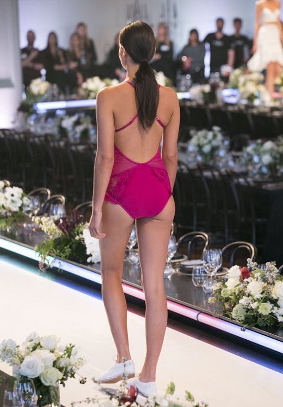 Shanina Shaik Flaunted Her Flawless Frame As She Confidently Strolled Down The Runway In Skimpy Magenta Lingerie