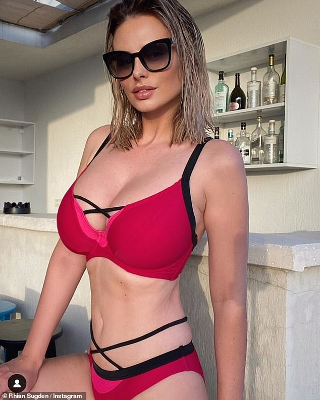 Rhian Sugden Looks Sensational As She Puts On A Busty Display In A Pink And Black Bikini During Turkey Getaway